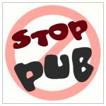 Plaque de maison - Stop pub