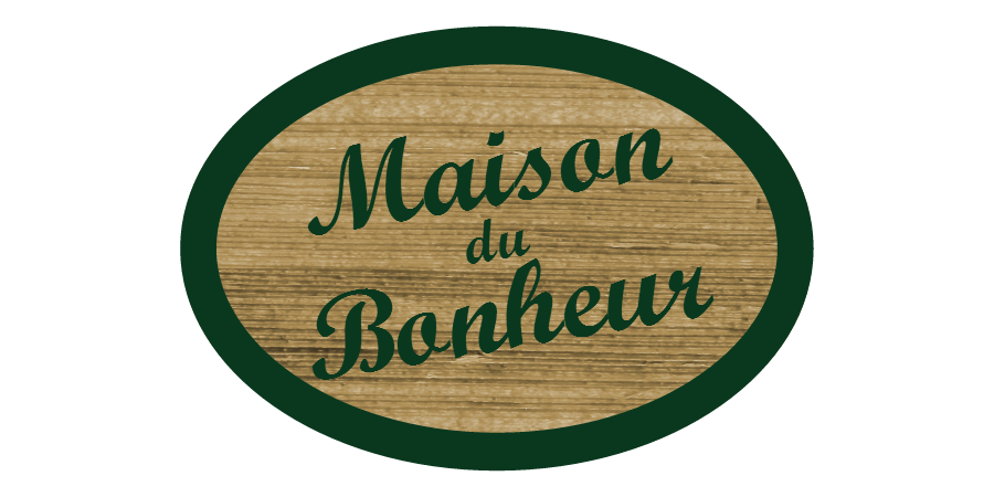 plaque de maison bonheur 1 signe. Black Bedroom Furniture Sets. Home Design Ideas