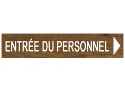 Panneau directionnel - Décor bois
