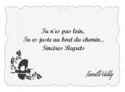 Plaque commémorative - Funéraire | Regrets