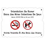 Panneau Aire de jeu - Anti-tabac