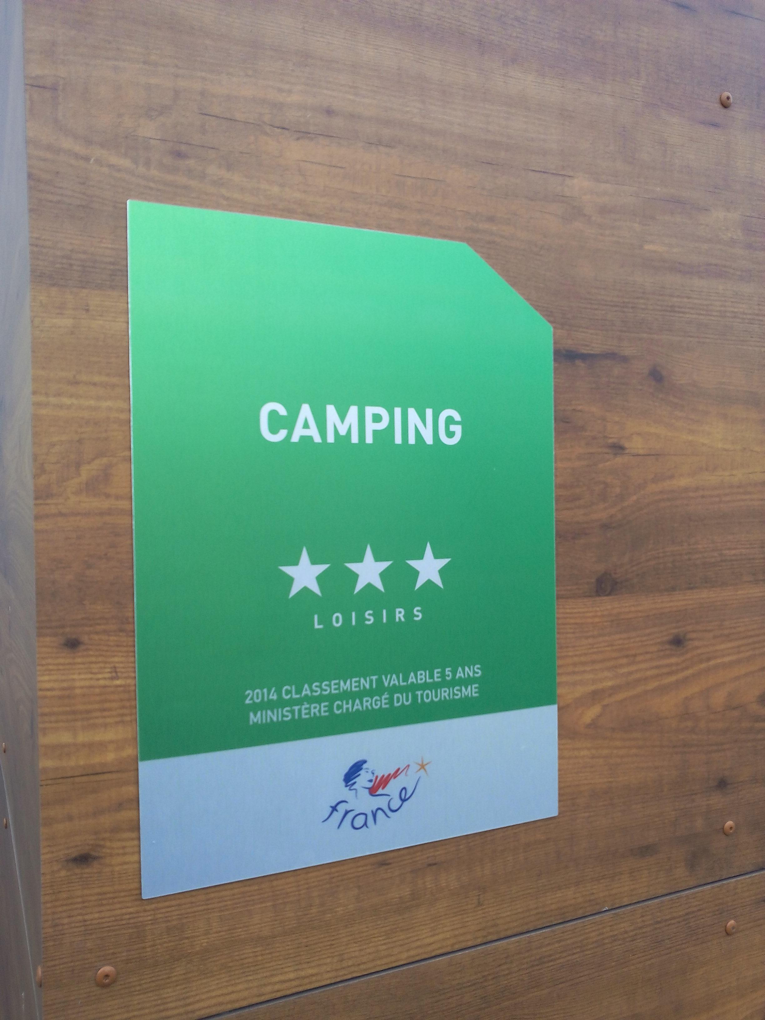Panonceau de classement Camping sur 1Signe.com