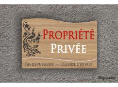Plaque de maison - privé