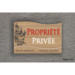 Plaque de maison - propriété privée