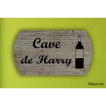 Plaque de porte - Cave