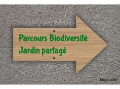 Panneau directionnel - Jardin partagé
