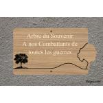 Plaque commémorative - Arbre du souvenir