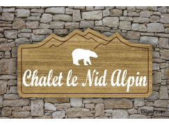 Enseigne - Devanture - Chalet Nid Alpin