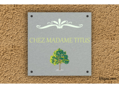 Plaque de maison - Madame Titus