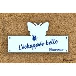 Plaque de maison - Papillon