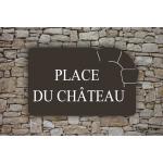 Plaque de rue Thématic Château