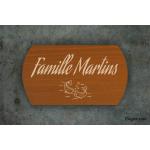 Plaque de maison - Famille Martin