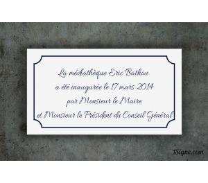 Plaque inauguration - Médiathèque