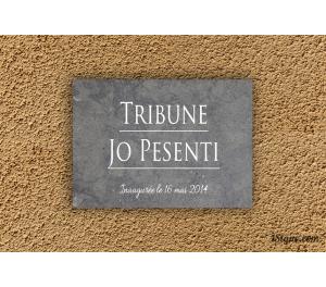 Plaque inauguration - Pierre gravée