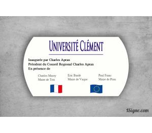 Plaque inauguration - Université
