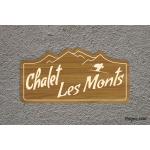Plaque de maison - Chalet