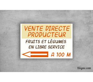 Pré-enseigne - Vente directe fruits