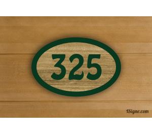 Numéro de Chambre - Bonheur - bois sablé