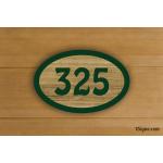 Plaque - Numéro de Chambre - Bonheur - bois sablé