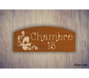 Pancarte - Numéro - Chambre classique
