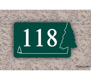 Numéro de maison - Thématic Sapin