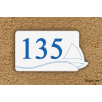 Numéro de maison Marine