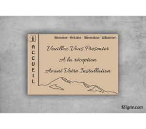 Camping - Accueil-Réception - Gravure Montagnes