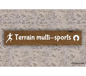 Camping - Panneau directionnel - Terrain multi-sports