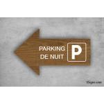 Camping - Panneau directionnel - Parking de nuit