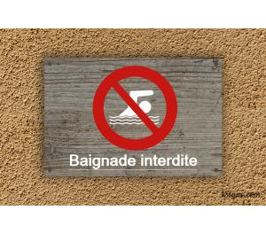 Camping - Piscine - Baignade Interdite
