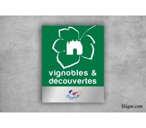 Plaque - Label Vignobles & découvertes