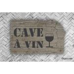Plaque de porte - Cave à vin