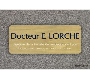 Plaque professionnelle - Docteur