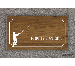 Plaque Funéraire - Pêcheur