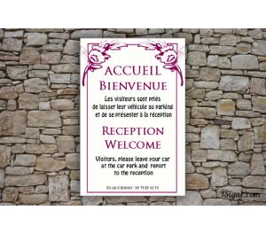 Plaque d'information - Accueil