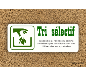 Plaque d'information - Camping