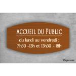 Plaque Information - Accueil Bois