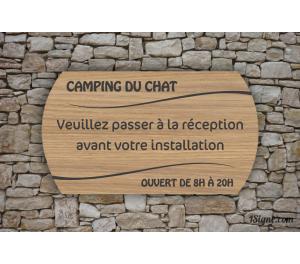 Camping - Accueil-Réception - Gravure Vagues