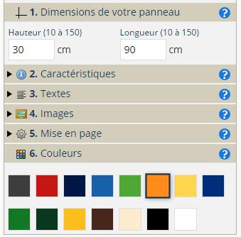 menu personnalisation droite
