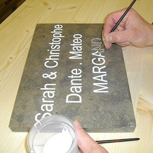 La peinture sur pierre