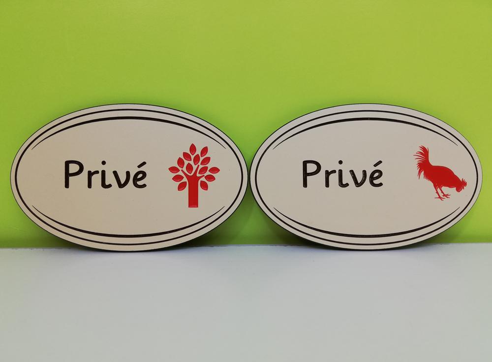 Exemple plaques de portes en compact beige