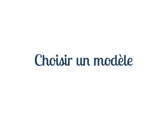 Choisir un modèle depuis la page d'accueil